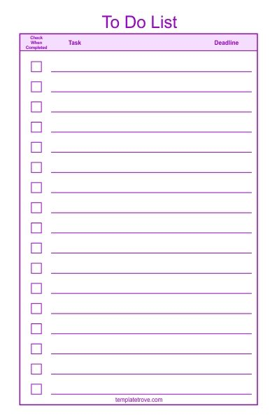 To Do Checklist Template 2 inside Checklist Template Png - Examples
