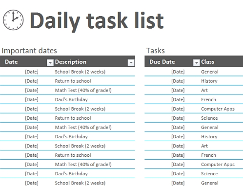 Track My Tasks \u2013 Office Templates with Office Daily Checklist - daily checklist