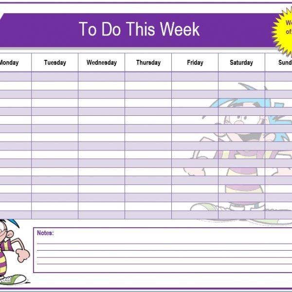 Weekly To Do List Template \u2013 Microsoft Word Templates with regard to