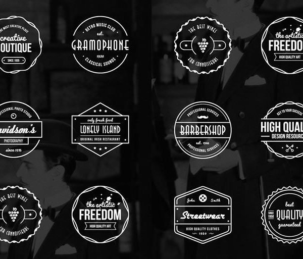15 Free Vintage Logo  Badge Template Collections regarding Vintage