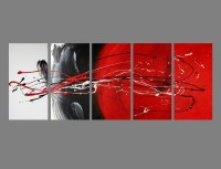 Black And White Wall Art With Red | Examples and Forms