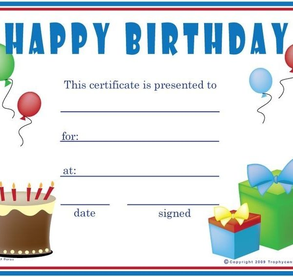 Birthday Gift Certificate Template Free Printables! Pinterest