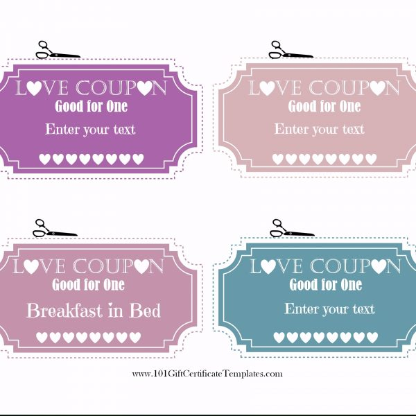 Free Editable Love Coupons For Him Or Her with Love Coupon Template