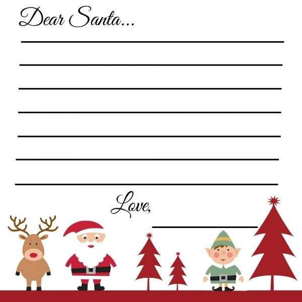 Dear Santa Christmas Wish List Template Examples and Forms