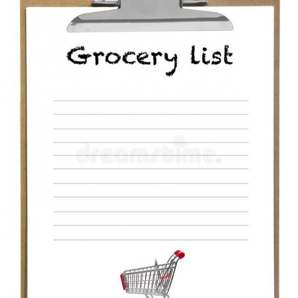 Grocery List Stock Image Image Of Material, Notebook \u2013 53137519