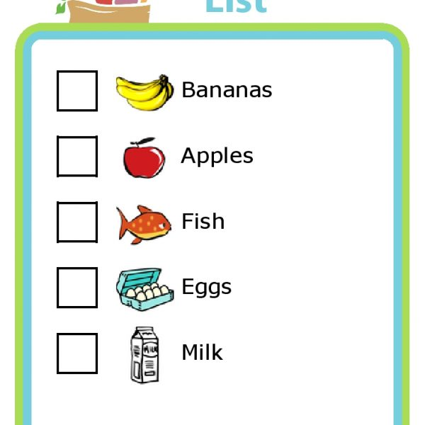 Grocery Shopping List With Pictures For Kids \u2013 The Trip Clip - grocery list examples