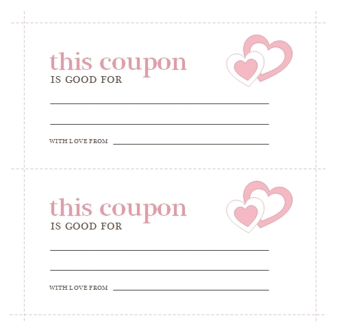 Love Coupon Template Microsoft Word Examples and Forms