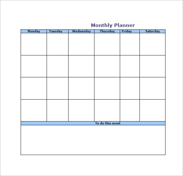 Monthly To Do List Template Examples and Forms