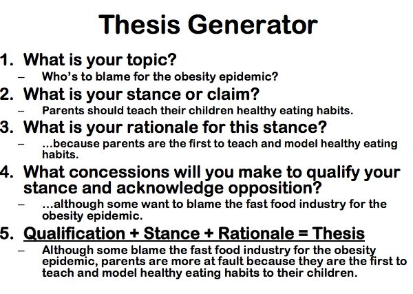 Sample Essay Thesis Statement Example Of A Thesis throughout Thesis