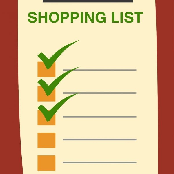 Grocery Shopping List Clipart Examples and Forms - example grocery list