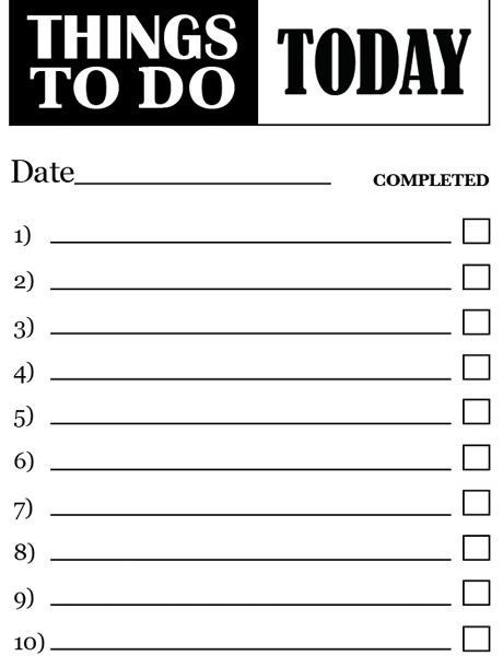 Things To Do List Pdf World Of Example regarding Things To Do List