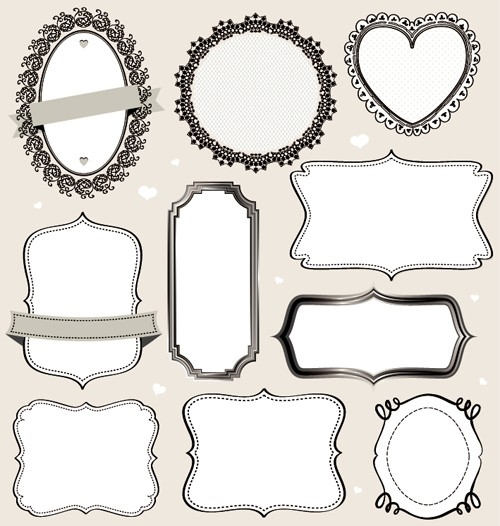 Vintage Labels Frames Vectors 02 \u2013 Vector Frames  Borders Free with