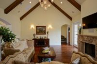 Inspiring Vaulted Ceiling Family Room 11 Photo - Building ...