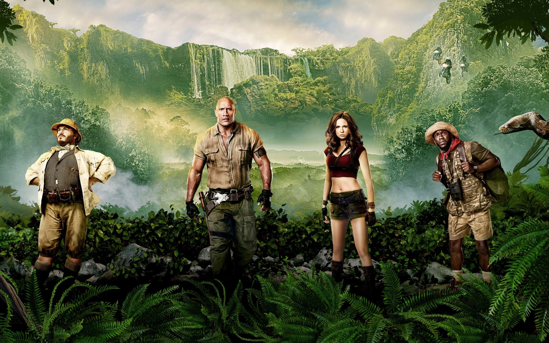 Christmas Wallpaper 3d For Windows 7 Jumanji Welcome To The Jungle Movie Movie Stars Photo