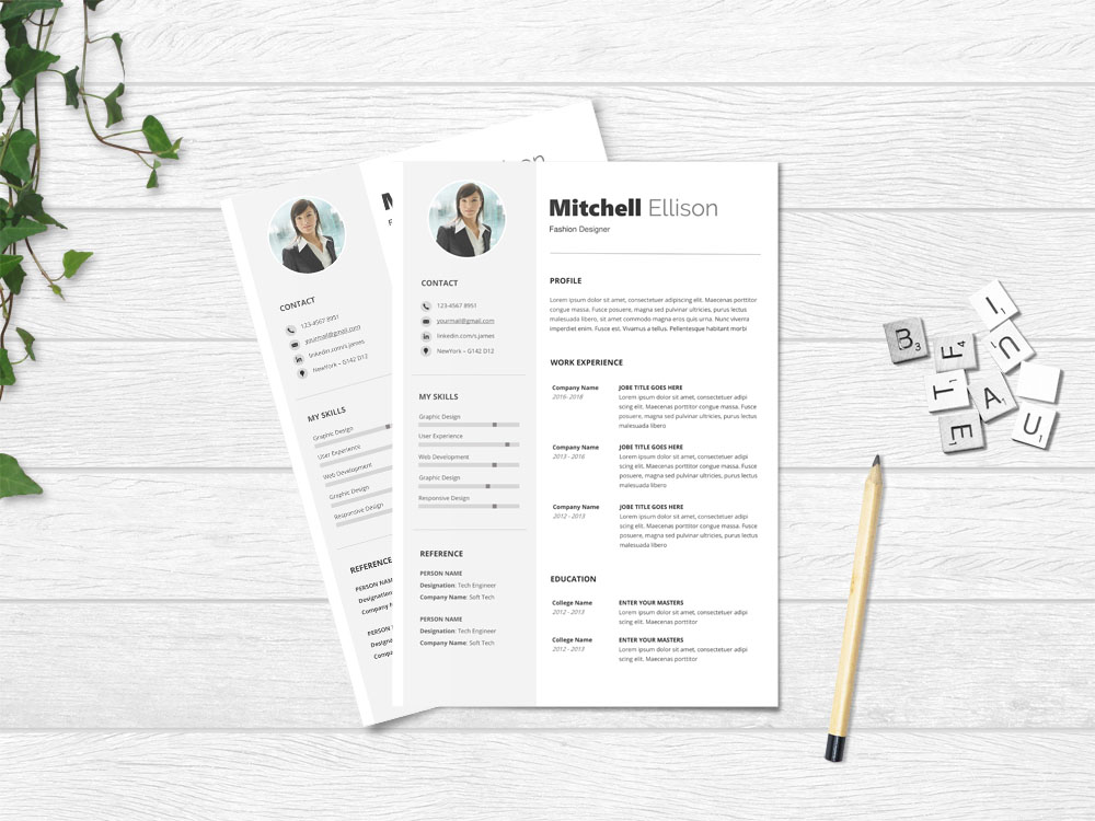 10 Free Attractive Resume Templates in MS Word Format