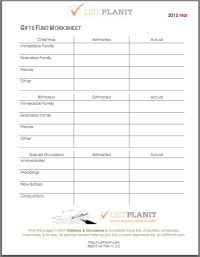 Financial Planning Worksheets. retirement financial ...