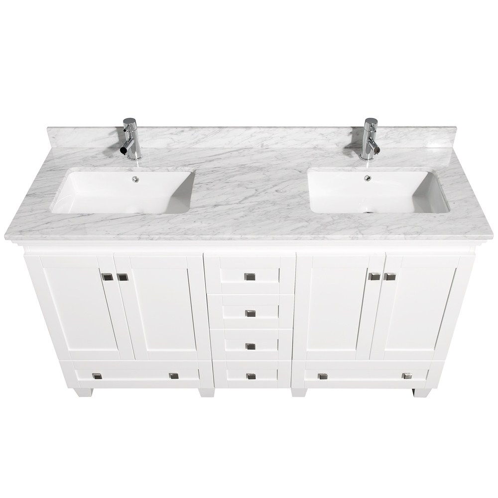 acclaim 60 white bathroom vanity