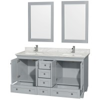 Accmilan 60 inch Double Sink Bathroom Vanity in Grey Finish