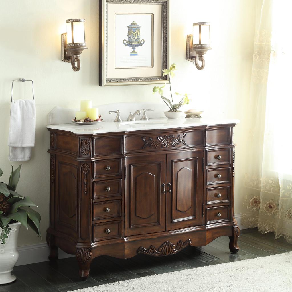 48 inch adelina old fashioned look bathroom vanity