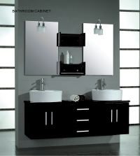 Cambridge 59-inch Double Wall Mounted Vanity Set, Solid ...