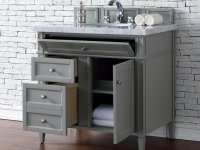 "James Martin Brittany Collection 36"" Single Vanity, Urban Gray"
