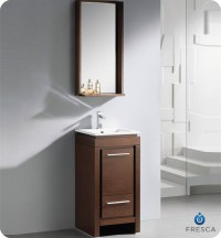 "Fresca 16"" Allier Small Modern Bathroom Vanity Wenge Finish"
