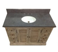 Legion 48 inch Rustic Single Sink Bathroom Vanity WK1948 ...
