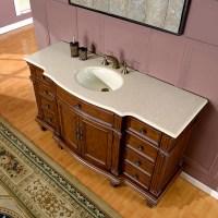Silkroad Exclusive 60 inch Bathroom Single Sink Vanity ...