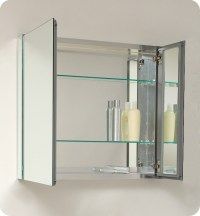 Fresca 30 inch Wide Bathroom Medicine Cabinet with Mirrors