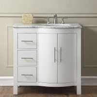 36 inch Single Sink Contemporary Bathroom Vanity Cabinet ...