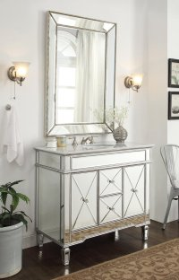 Mirrored Bathroom Vanity Cabinets - Image Cabinets and ...