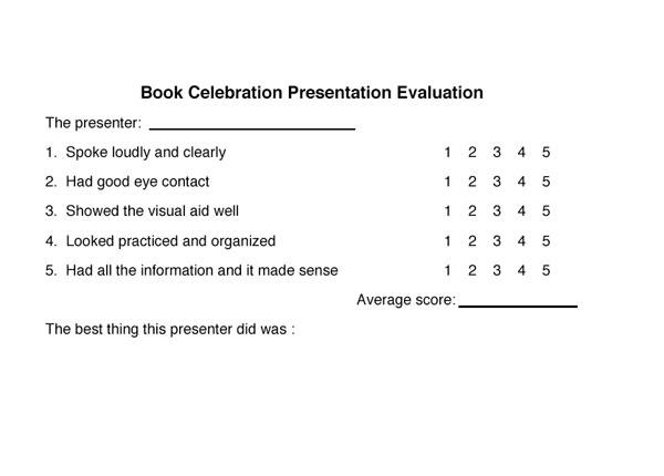 Extension Project Presentation Evaluation Form