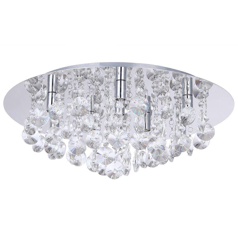 Montego Flush Ceiling Light Crystal Effect