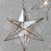 1 Lt Star Hanging Pendant in Antique Brass Decorative ...