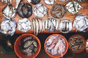 Fresh fish in Cochin. Photo by the author.