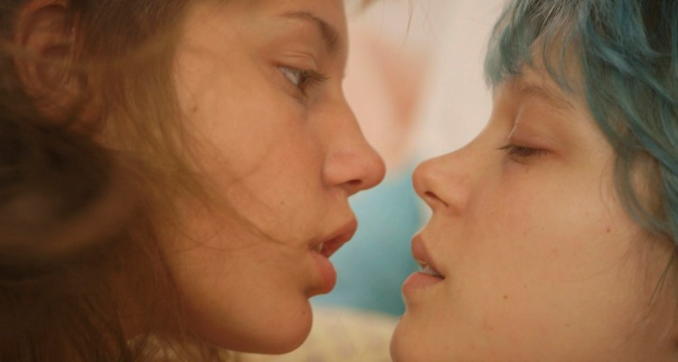 "This photo released by courtesy of Sundance Selects shows Adele Exarchopoulos, left, as Adele, and Lea Seydoux, as Emma, in the film, ""Blue Is the Warmest Color,"" directed by Abdellatif Kechiche. (AP Photo/Courtesy Sundance Selects)"