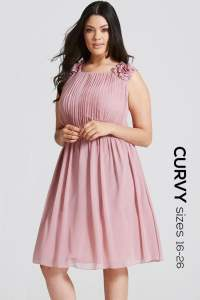 Dusty Pink Floral Applique Prom Dress - from Little ...