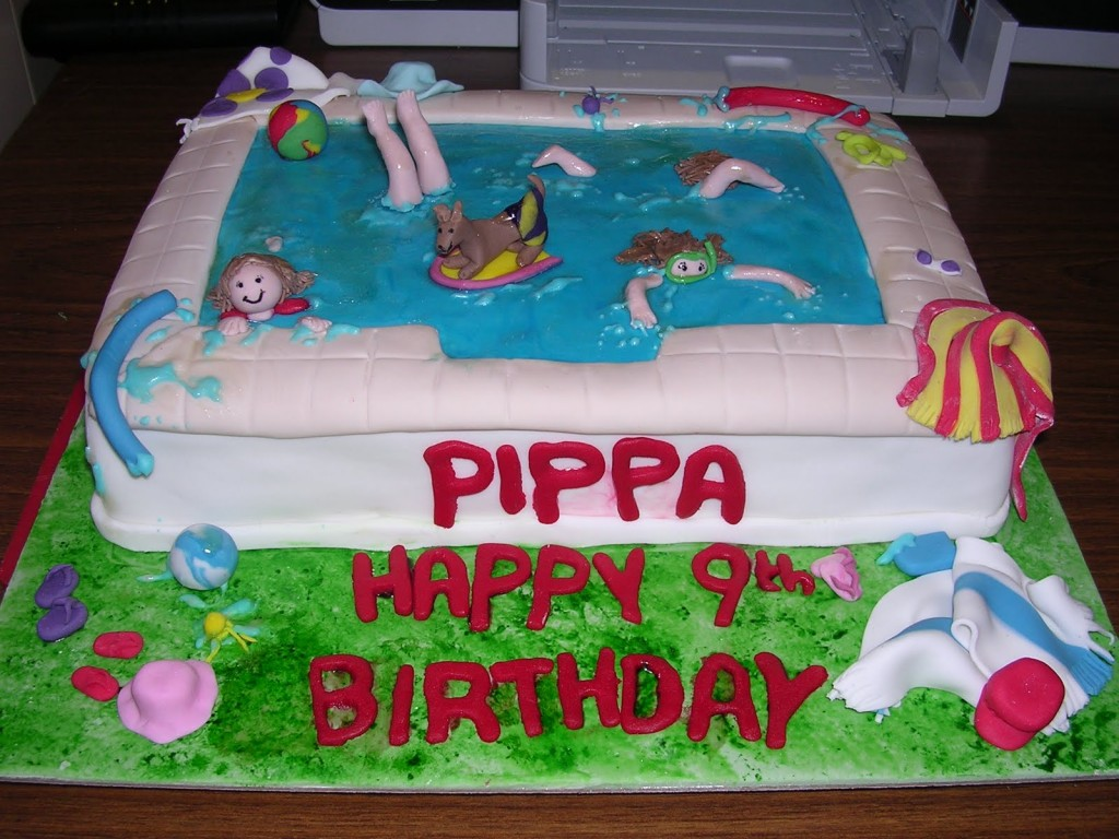 Cute Birthday Cake Wallpapers Pool Party Cakes Decoration Ideas Little Birthday Cakes