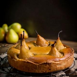 pear and chai tart