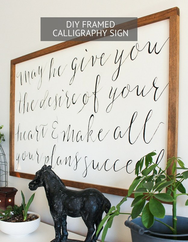 A simple and easy tutorial on how to make your very own wood framed calligraphy sign! A little paint and wood can go a long ways. Click to view the step-by-step tutorial.