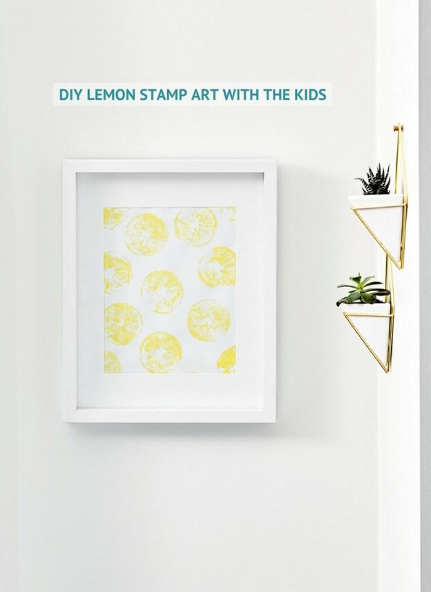 DIY STAMP LEMON ART WITH THE KIDS