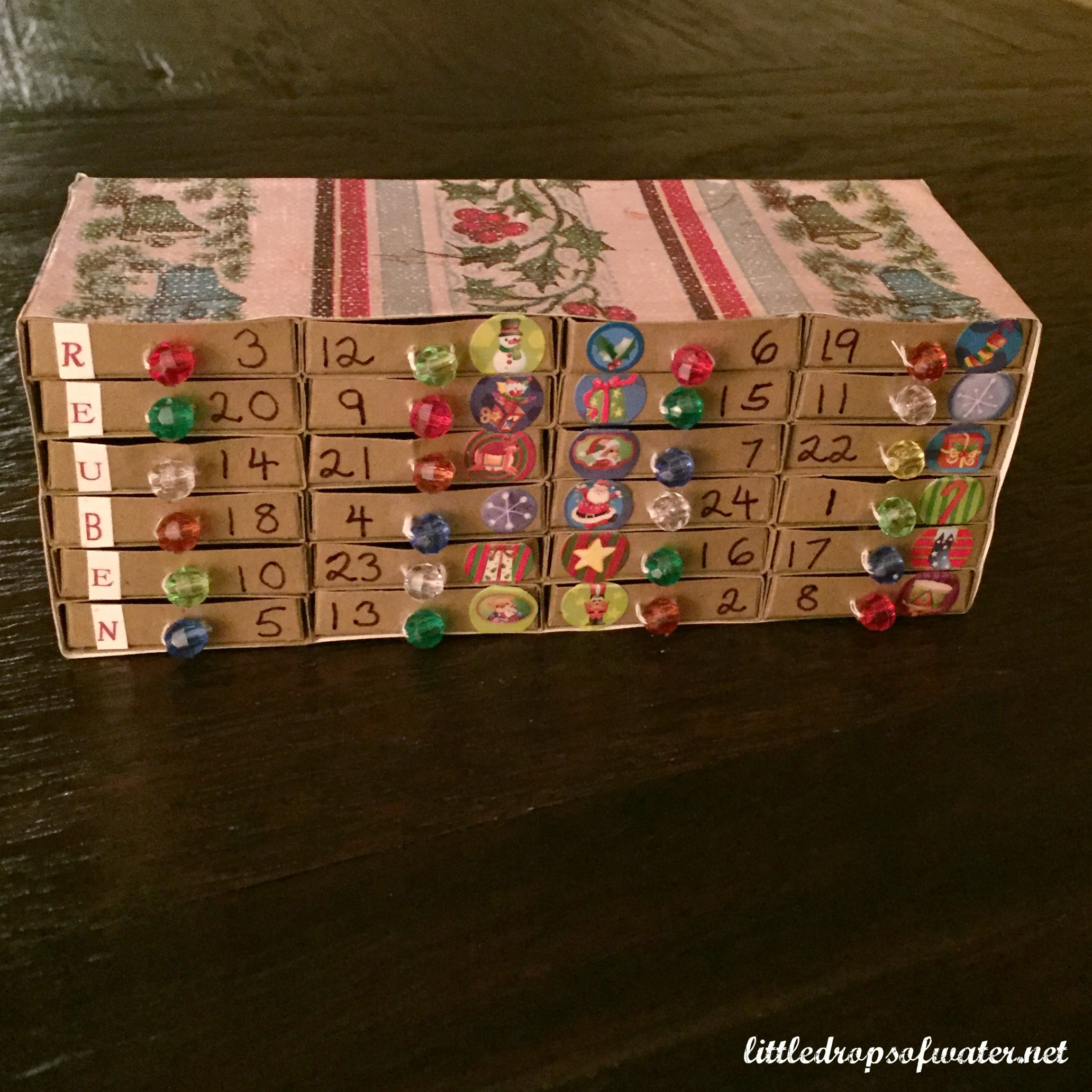 Matchbox Advent Calendar Tutorial