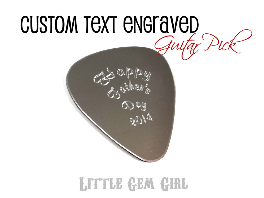 Engraved Guitar Pick Custom Text With A Personalized
