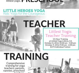 Littlest Yogis Teacher Training Flyer Black and White