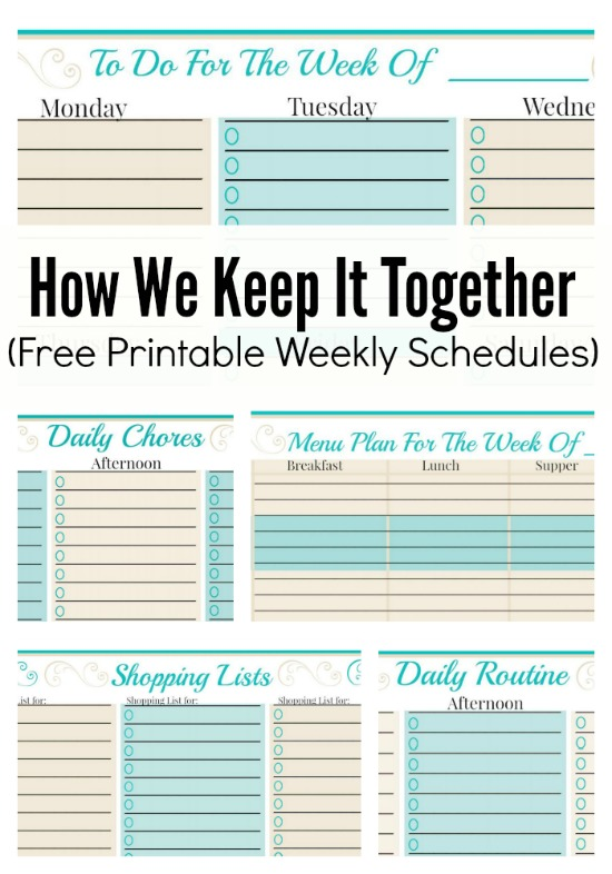 How We Keep It Together (And Free Weekly Planner Templates - free printable weekly planner