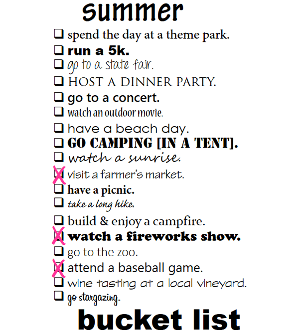 summer bucket list // LLinaBC.com