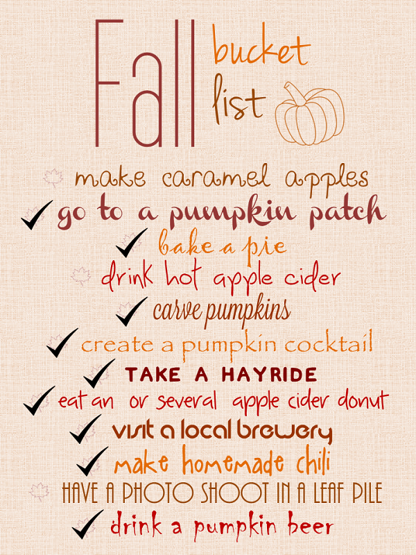 fall bucket list // LLinaBC.com