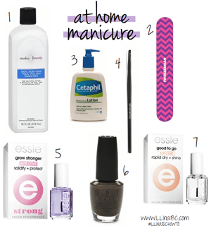 how to: at home manicure.