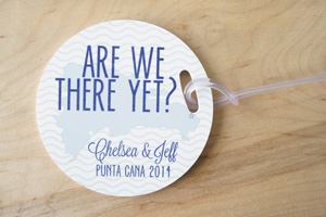 wedding // luggage tags.