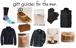 gift guide: for the men.